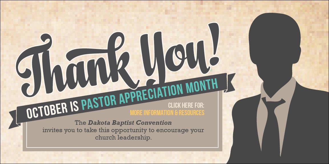 pastor appreciation month  u2013 dakota baptist convention