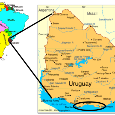 Mission Uruguay Cancelled Dakota Baptist Convention - Uruguay map png